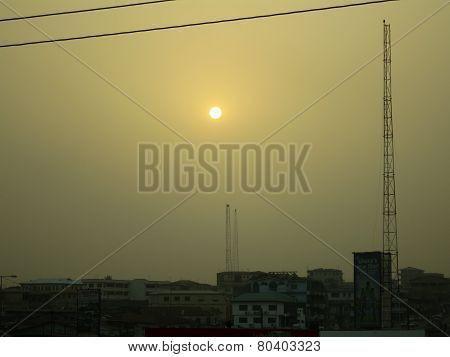 Hazy Sky Over Kumasi, Ghana