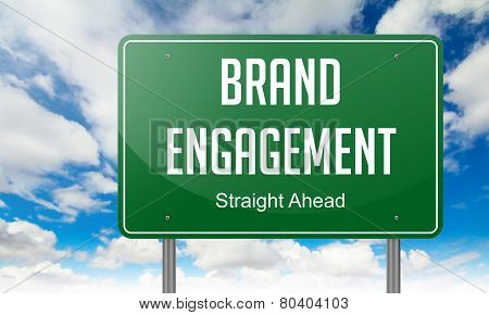 Brand Engagement on Highway Signpost.