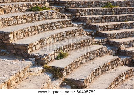 Ancient amphitheater in Ephesus Turkey - archeology background