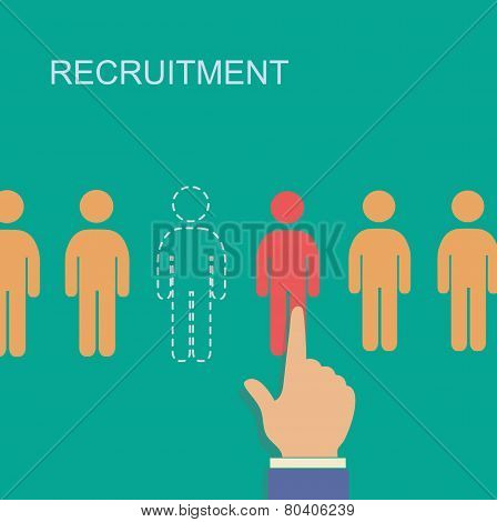 recruitment and human resource infographics template with space for text