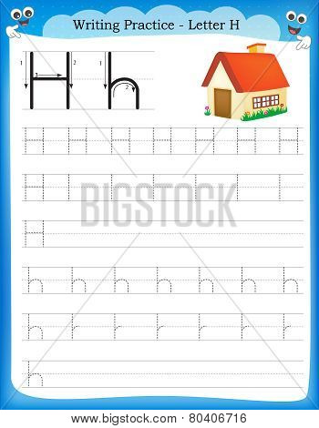 Writing Practice Letter H