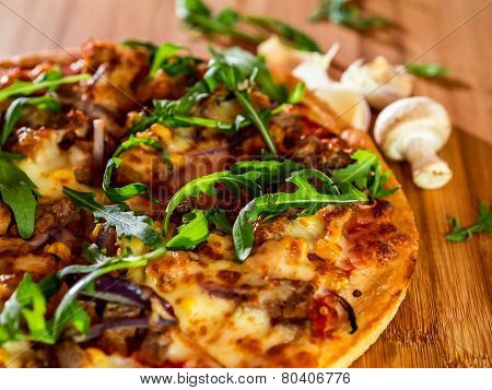 Pizza, Mushroom and Garlic