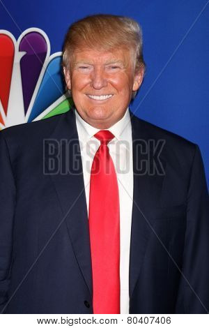 LOS ANGELES - DEC 16:  Donald Trump at the NBCUniversal TCA Press Tour at the Huntington Langham Hotel on December 16, 2015 in Pasadena, CA