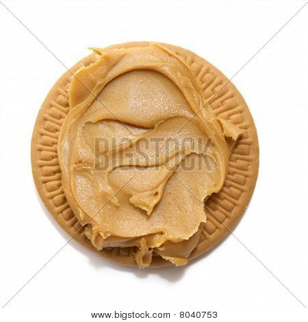 Peanut Butter On Biscuit