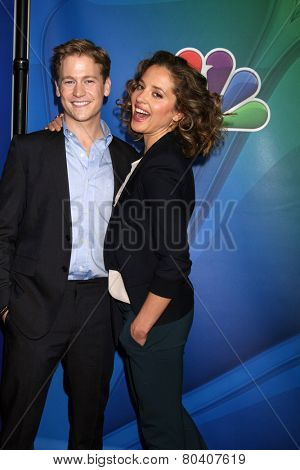 LOS ANGELES - DEC 16:  Gavin Stenhouse, Margarita Levieva at the NBCUniversal TCA Press Tour at the Huntington Langham Hotel on December 16, 2015 in Pasadena, CA