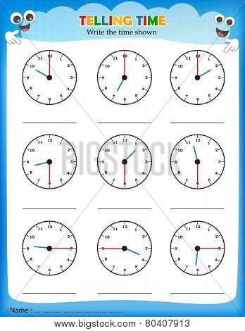 Telling Time Worksheet.