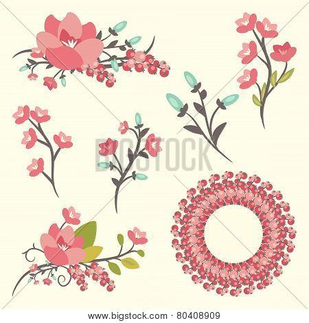 Set Of Elegance Floral Bouquets
