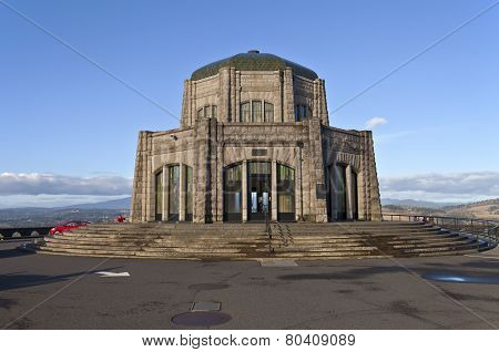 Vista House Landmark In Northern Oregon.