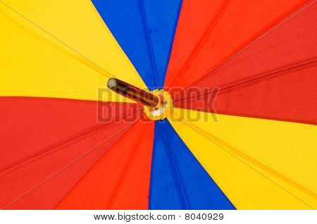 Close Up Of Multi Sector Colorful Umbrella