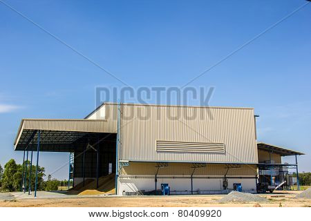 Rice Granary, Sky, Blue, Building, Paddy.