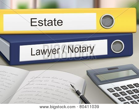 Estate And Lawyer/notary Binders