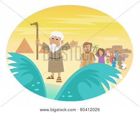 Moses Splitting The Sea