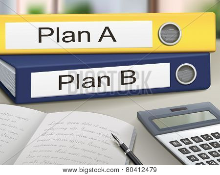 Plan A And Plan B Binders