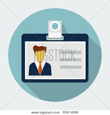 Vector identification card icon