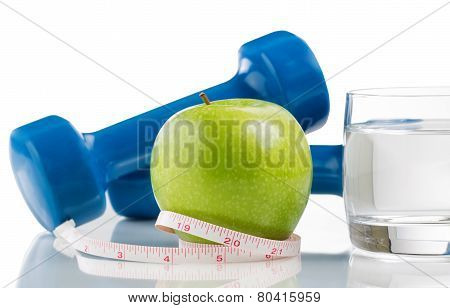 Fresh Apple And Water For Diet