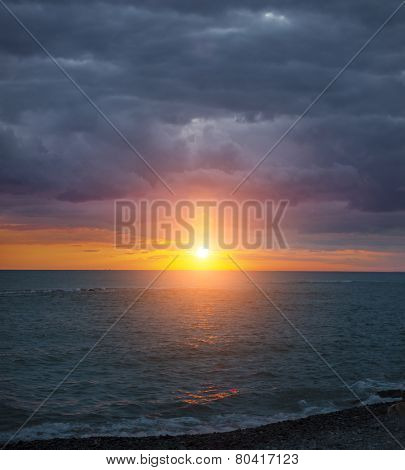 Amazing sunset in Blacksea region of Turkey