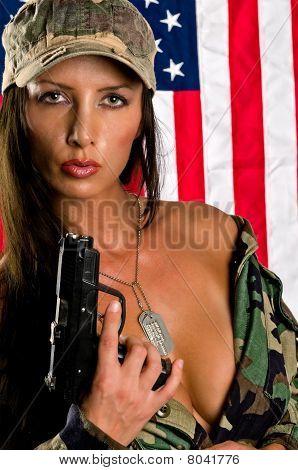 Sensual Militar Woman