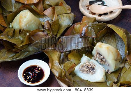Vietnamese Food,  Pyramid Rice Dumpling