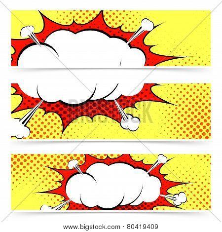 Comic Book Retro Style Web Header