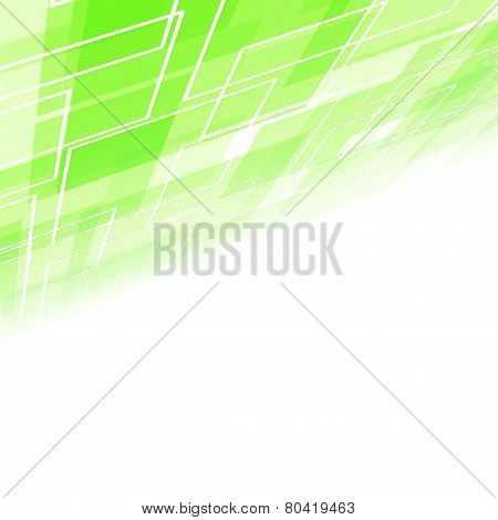 Abstract Green Tile Perspective Backdrop