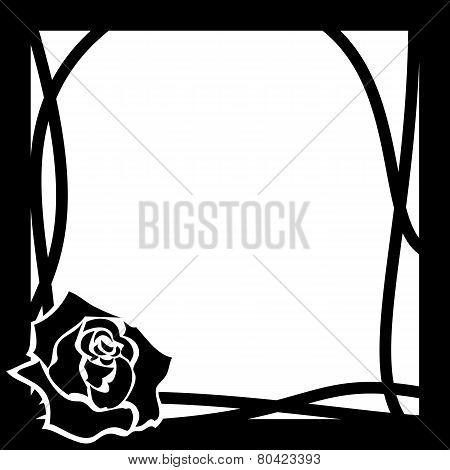 Vector Frame Whith Rose