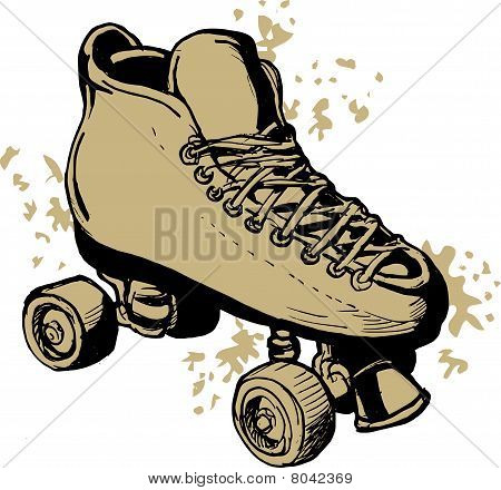 Derby Roller skates isolated on white background