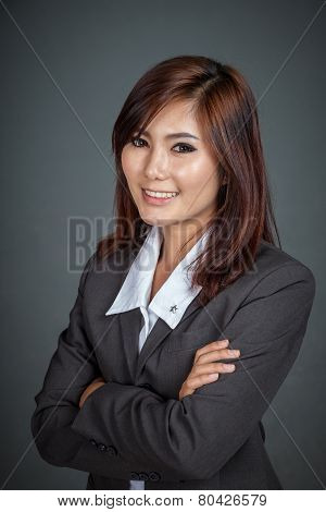 Happy Asian Businesswoman