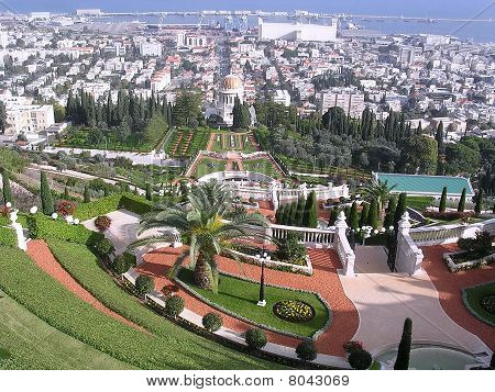 Haifa Bahai Gardens & Shrine Of Bab 2003