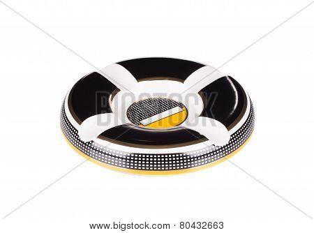 Colorful round ashtray