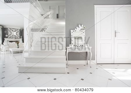 Modern White And Gray Interior