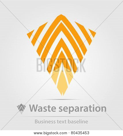 Waste separation business icon