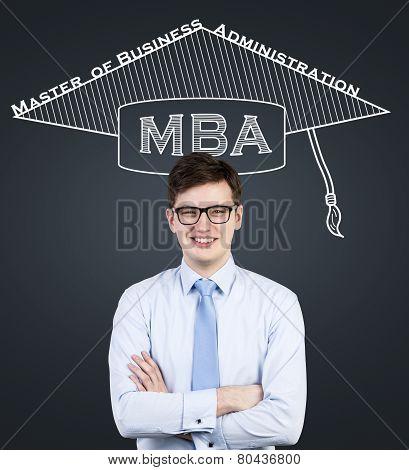 Businessman In Bachelor Hat