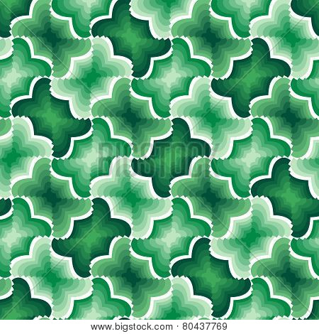 Green Geometric Seamless Tile Pattern