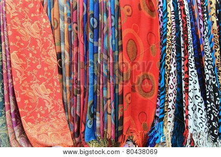 Bright and colorful scarves