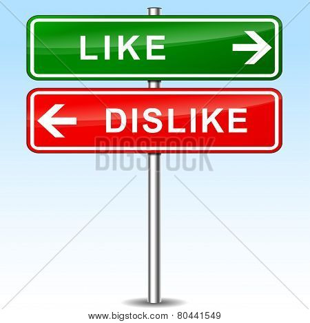 Like And Dislike Directions