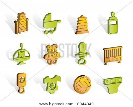 Child, Baby and Baby Online Shop Icons