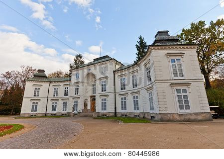 Myslewicki Palace (1779) In Royal Baths Park Of Warsaw, Poland