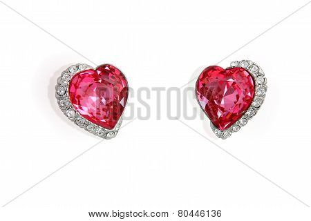 Earrings In The Shape Of Heart