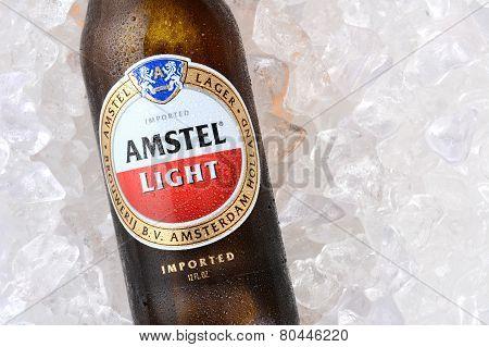 Amstel Light Isolated On Ice