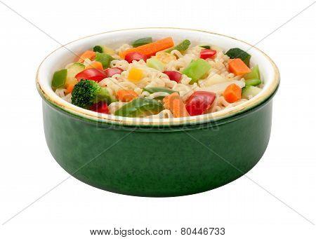 Ramen With Stir Fried Vegetables