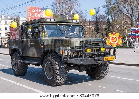 Offroad car of Emergency Ministry on parade