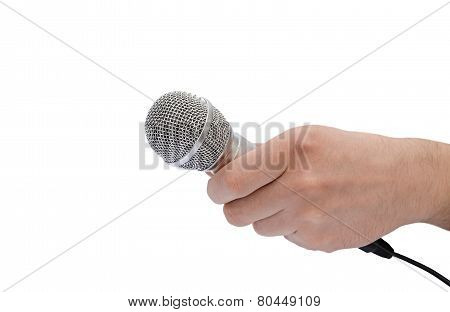 Microphone In A Hand