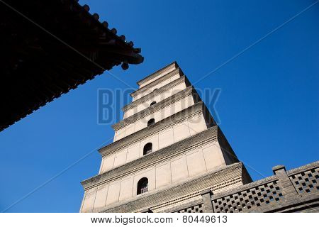 Big Wild Goose Pagoda in southern Xi'an, Shaanxi province, China
