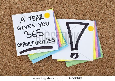 A Year Gives You 365 Opportunities
