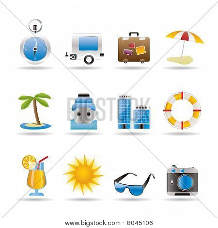 Travel, Holiday and Trip Icons