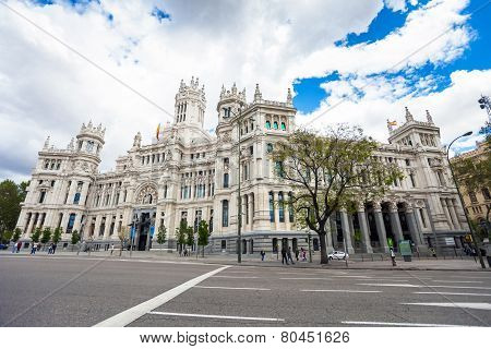 City Hall Of Madrid, Cultural Center And Monument Of The City In Madrid