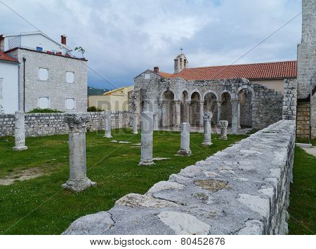 The historic city Rab in Croatia