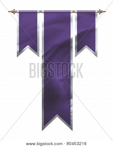 Purple Triple Flag
