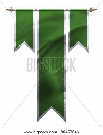 Green Triple Flag