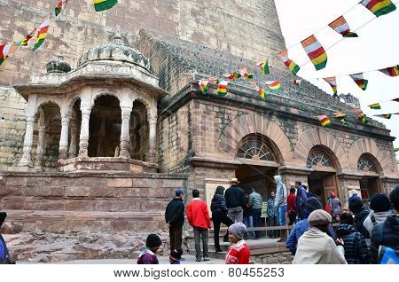 Jodhpur, India - January 1, 2015: Tourist Visit Mehrangarh Fort In Jodhpur, India